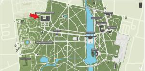 mapa Łazienek